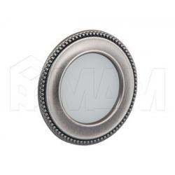 AKOYA Точечный светильник круглый, олово состаренное, 12V, теплый белый 3000К, 3W