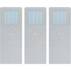 POLARx3 Комплект светильников с блоком питания, серебро, 24V, 190мм, теплый белый 3000К, 5W