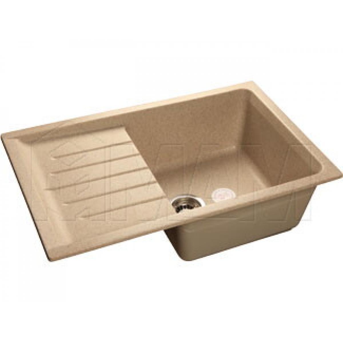Мойки - PRACTIC 760L Мойка мрамор, песочный, 760x500, B800