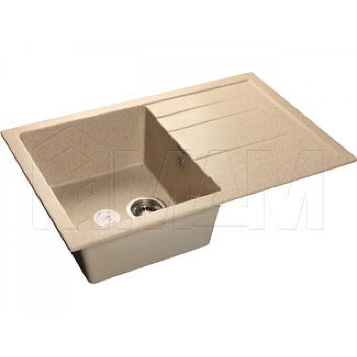 Мойки - QUADRO 780L Мойка мрамор, песочный, 775х500, B600