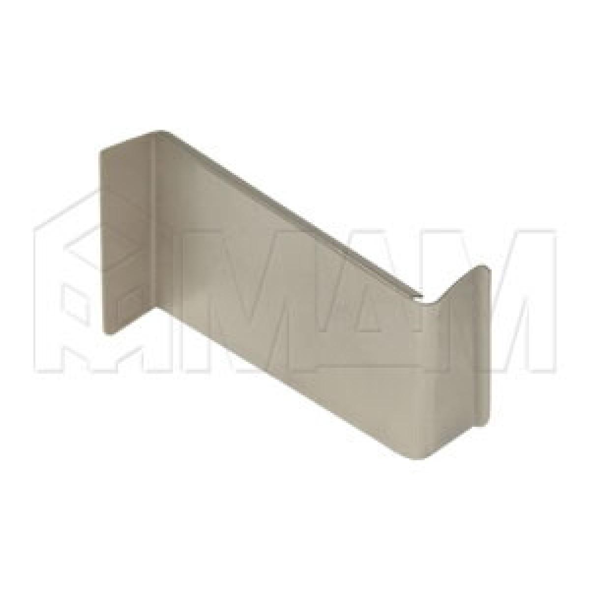 806 Заглушка для мебельного навеса, металл, никель, левая