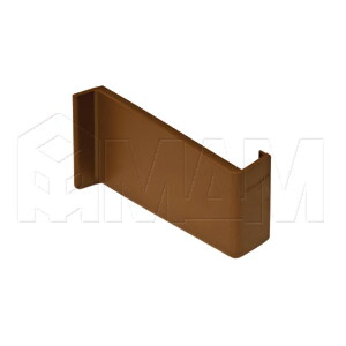 806 Заглушка для мебельного навеса, пластик, коричневая, левая