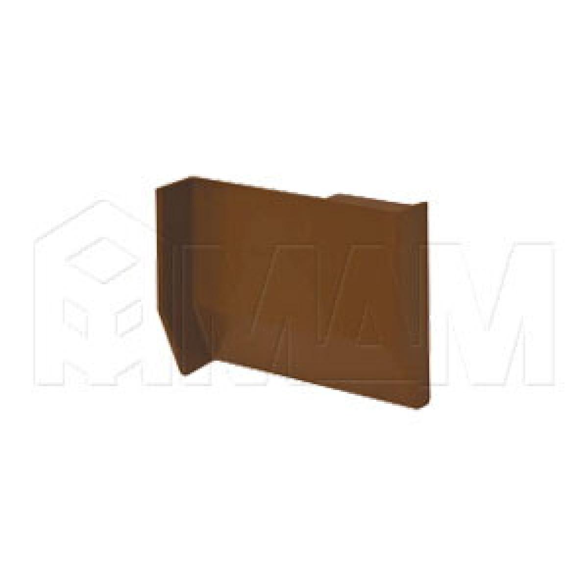 801 Заглушка для мебельного навеса, пластик, коричневая, левая