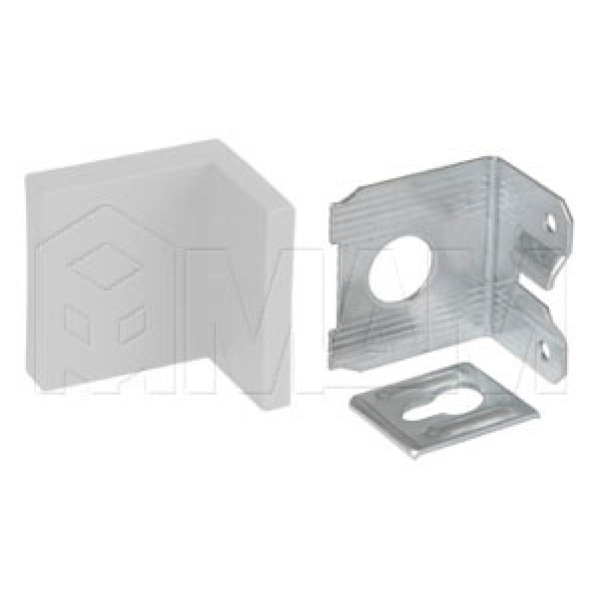 Мебельный навес универсальный, металл, белая пластиковая заглушка, 15 кг