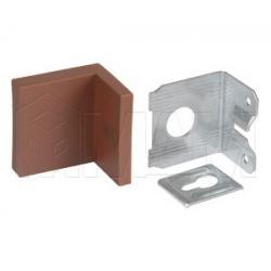 Мебельный навес универсальный, металл, коричневая пластиковая заглушка, 15 кг