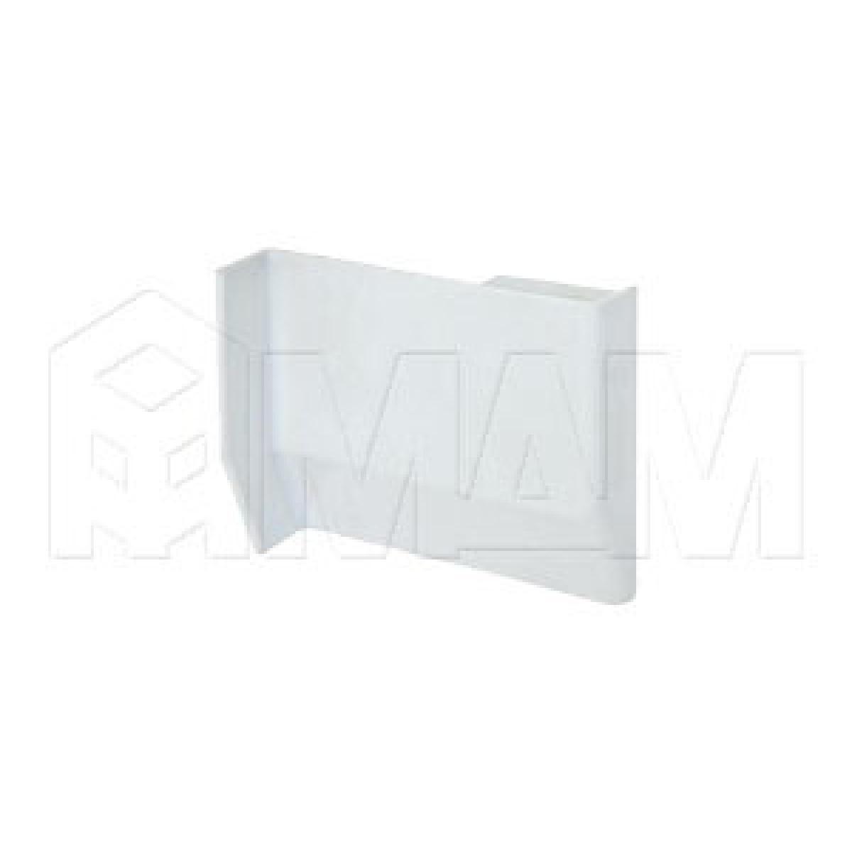 801 Заглушка для мебельного навеса, пластик, белая, правая