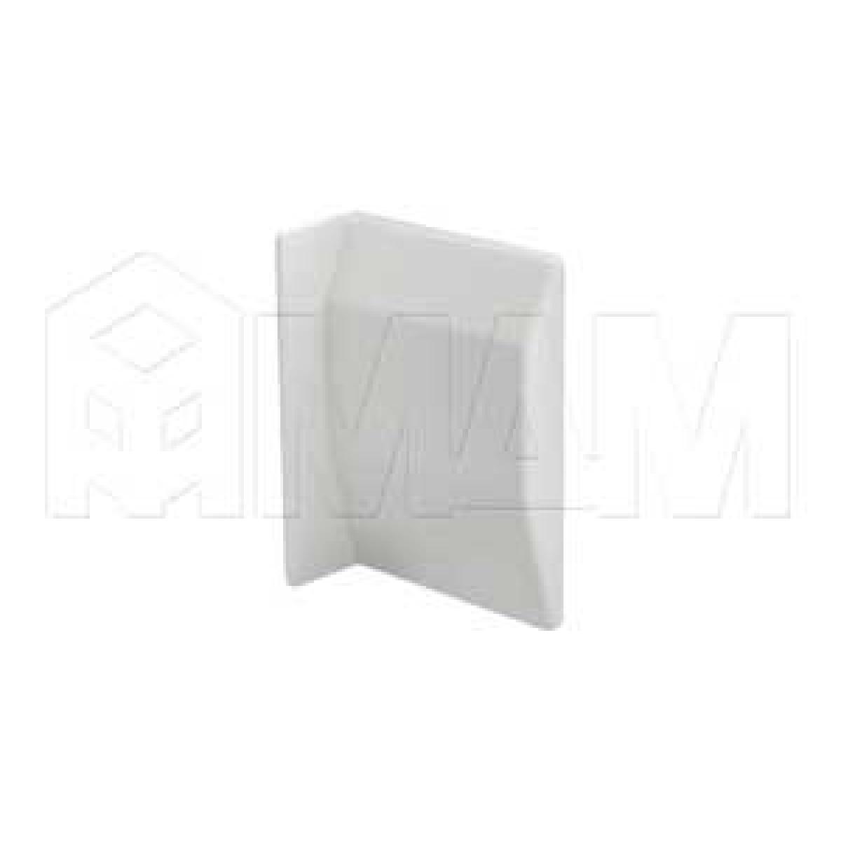 807 Заглушка для мебельного навеса, пластик, белая, левая