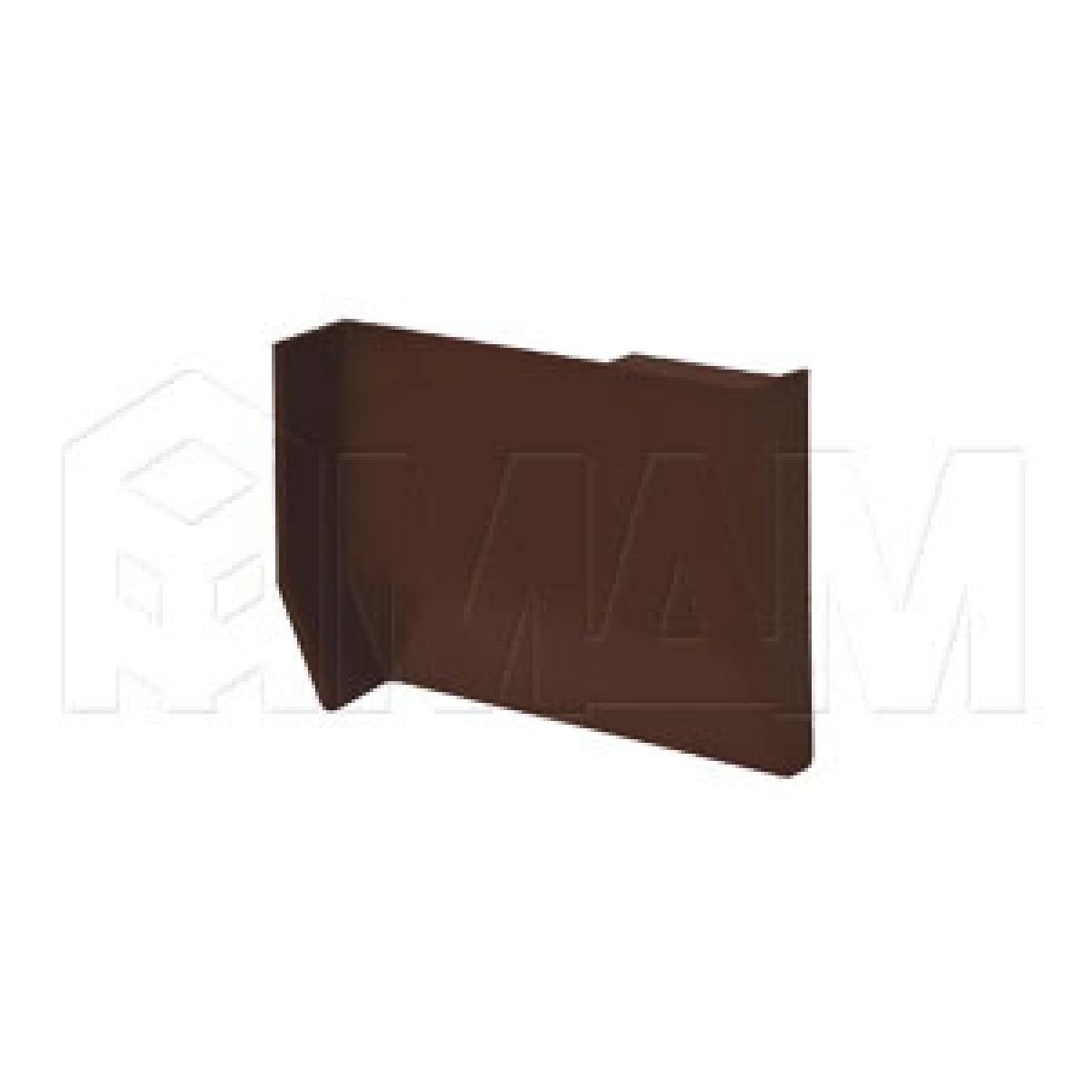 801 Заглушка для мебельного навеса, пластик, темно-коричневая, левая