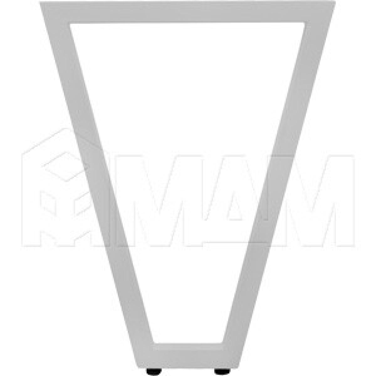 Опора для стола V-образная, 40х40, H720+5мм, хром матовый, 1шт.