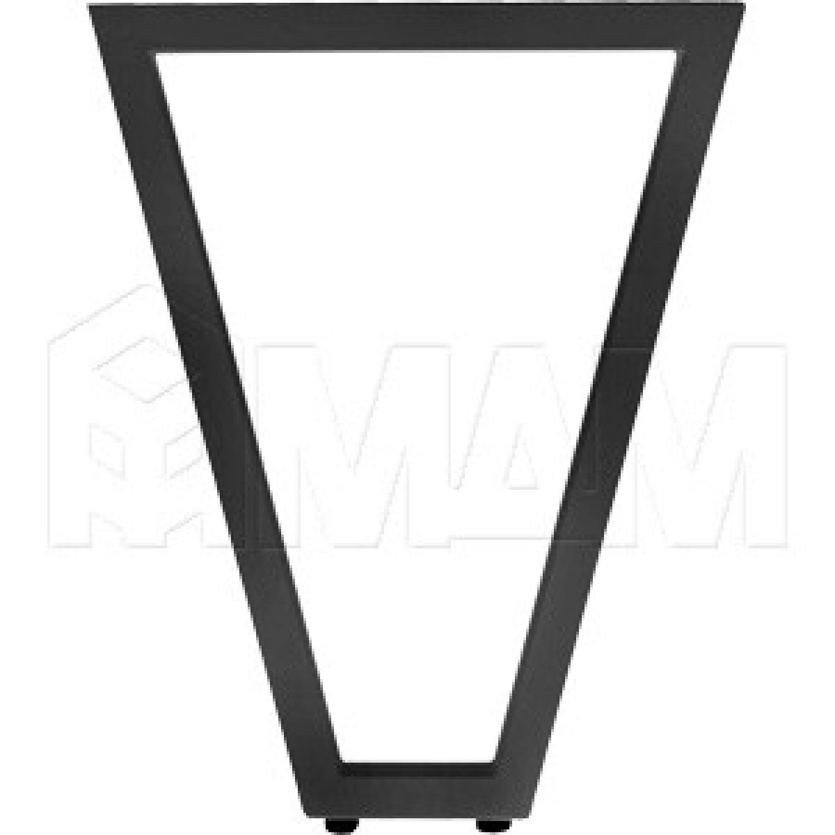 Опора для стола V-образная, 40х40, H720+5мм, черный, 1шт.