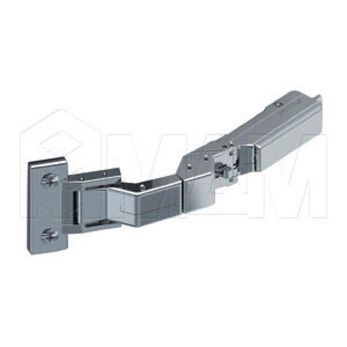 Четырехшарнирные петли - Петля TIOMOS M0 для дверей 6-10 мм без сверления со встроенным амортизатором (90/125) накладная