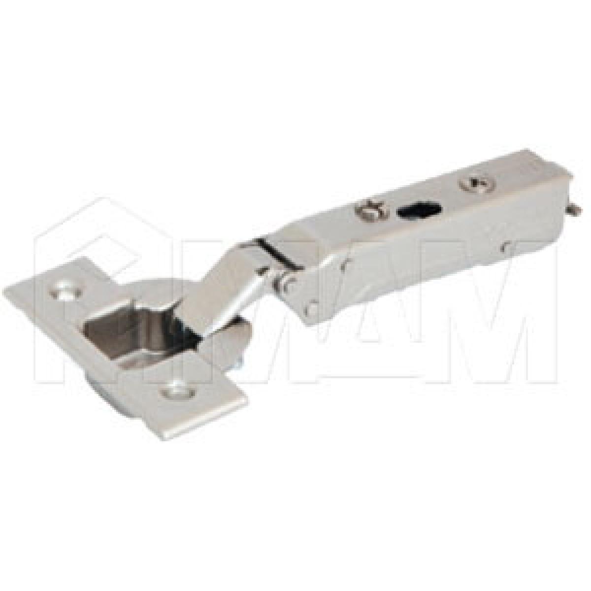 Четырехшарнирные петли - Петля TIOMOS со встроенным амортизатором стандартная (90/95) накладная, для фасадов толщиной до 28 мм