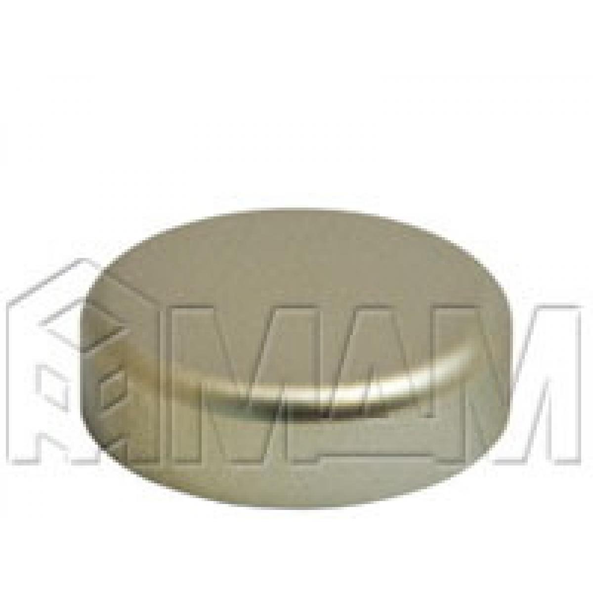 Петли Стеко/Зеркало - Заглушка декоративная Mini 12 круглая, никель матовый