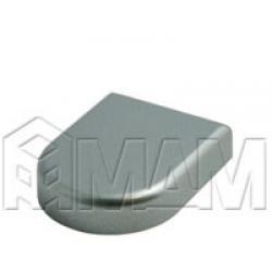 Петли Стеко/Зеркало - Заглушка декоративная Mini 12 D-образн., хром матовый