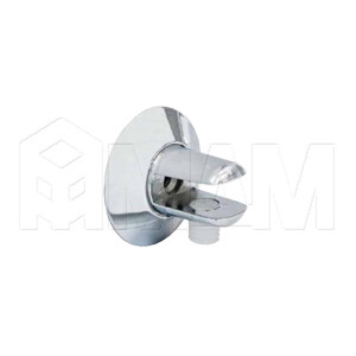 Полкодержатель для стеклянных полок толщиной 5-6 мм, хром