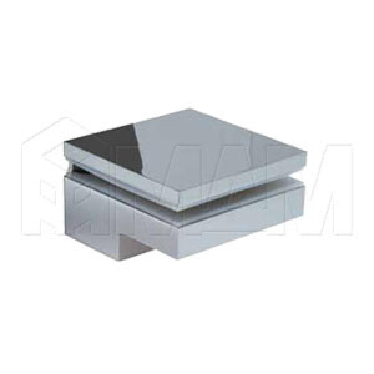 Менсолодержатель 80Х80 мм для деревянных и стеклянных полок 6 - 40 мм, хром (2 шт.)