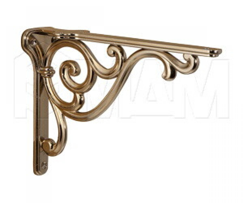 ROME Менсолодержатель для деревянных полок L-200 мм, золото темное