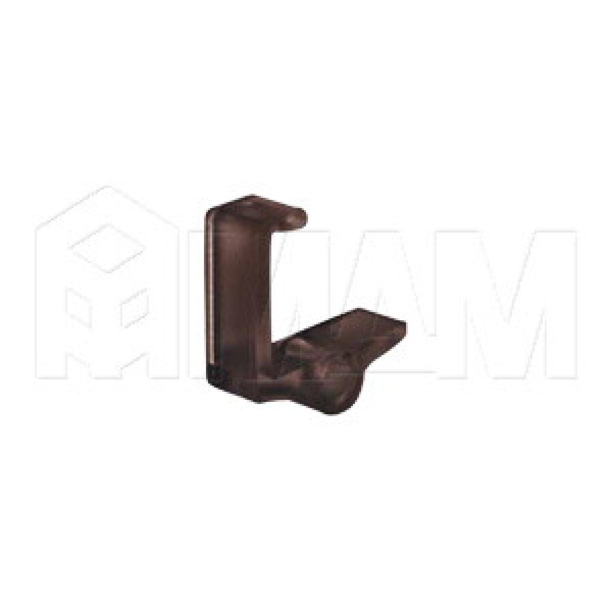 Полкодержатель-фиксатор для ДСП 18 мм (коричневый)