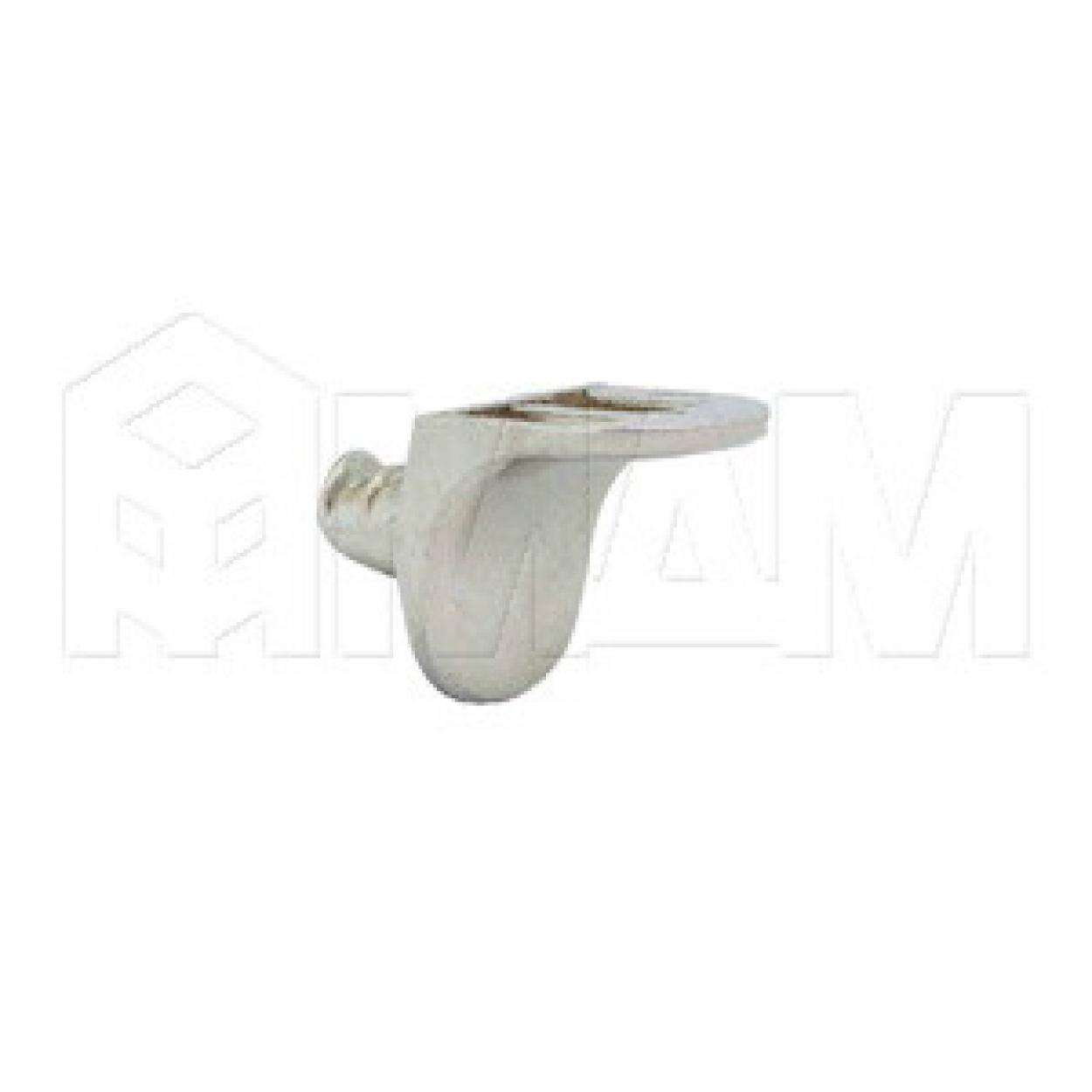 Полкодержатель с дополнительным упором для деревянных полок, никель