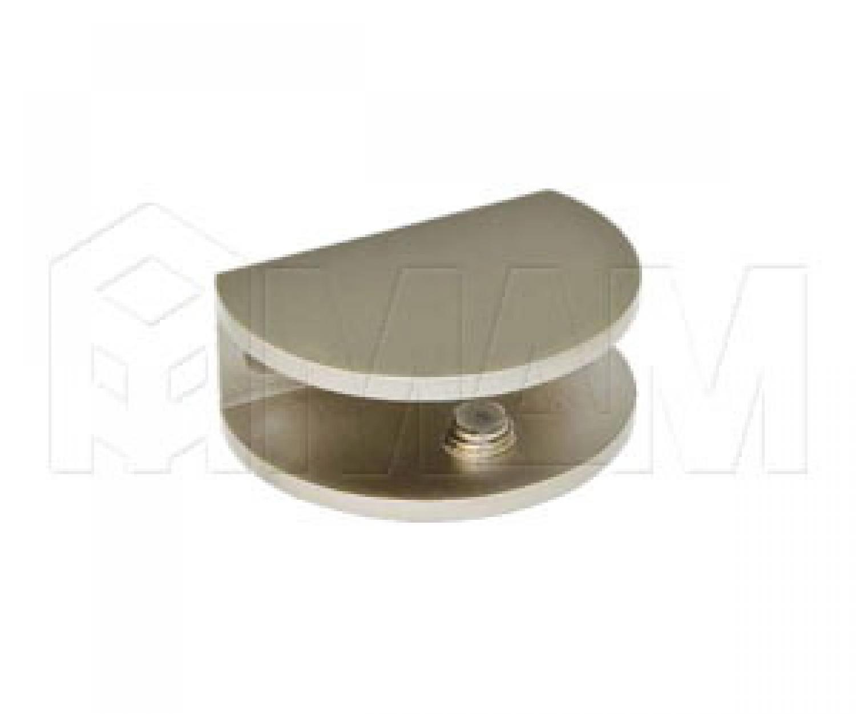 Полкодержатель для стеклянных полок толщиной 8-10 мм, никель матовый