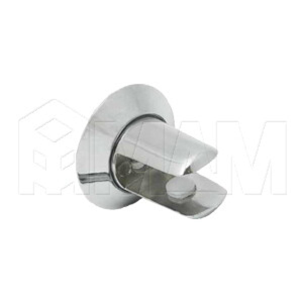 Полкодержатель для стеклянных полок толщиной 8-10 мм, хром