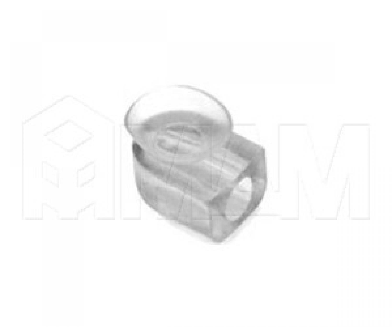 Полкодержатель для стеклянных полок, прозрачный