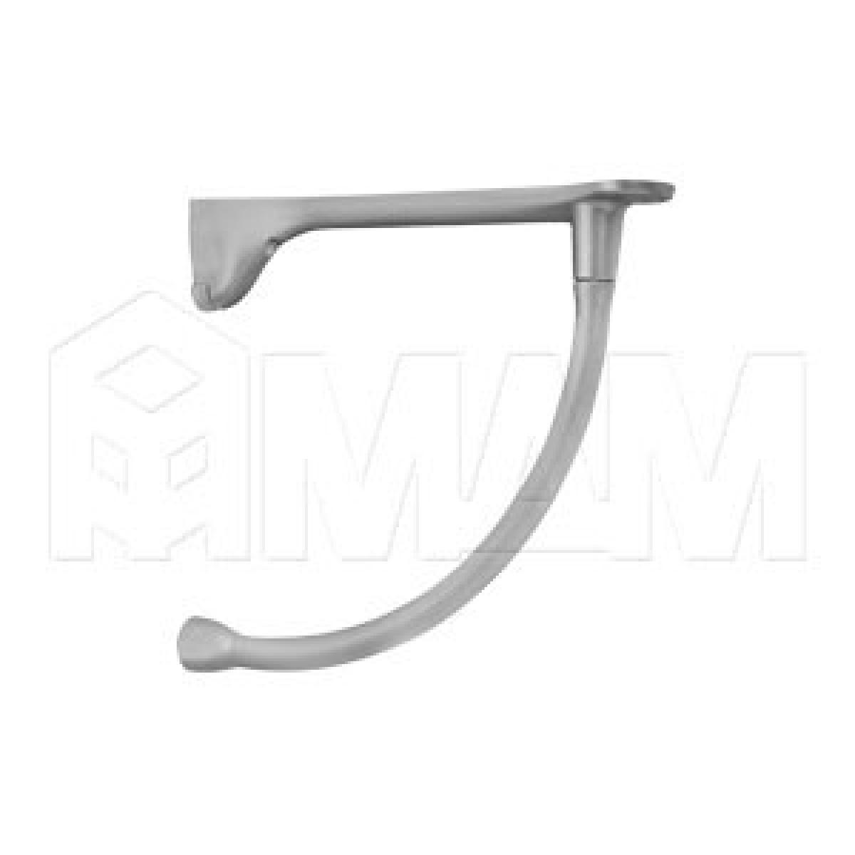 Менсолодержатель для деревянных полок L-230 мм, хром матовый (2 шт.)