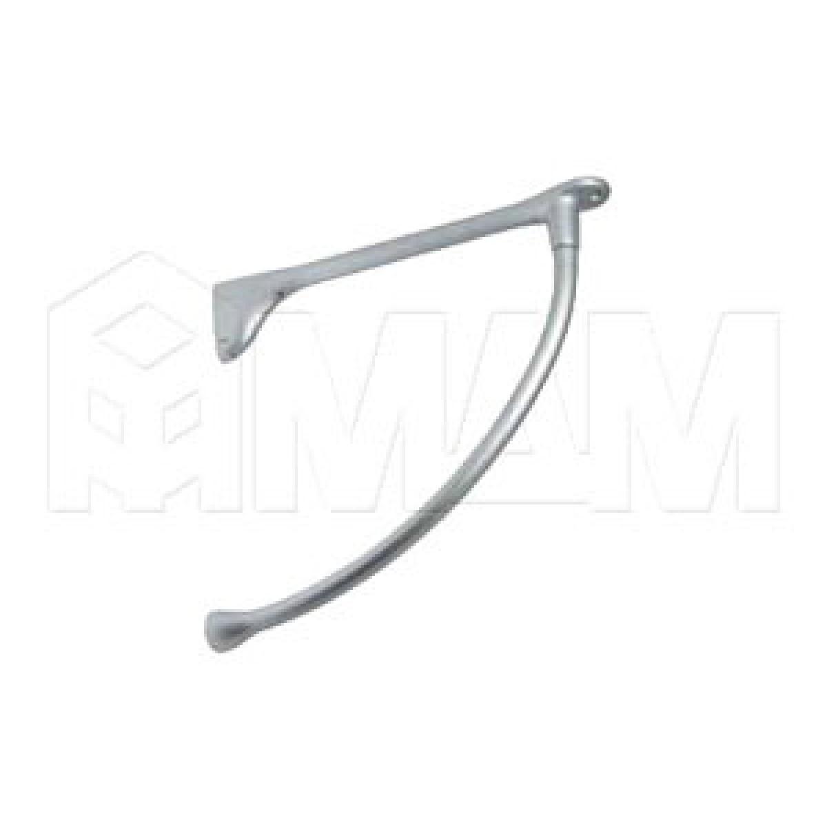 Менсолодержатель для деревянных полок L-240 мм, хром матовый (2 шт.)
