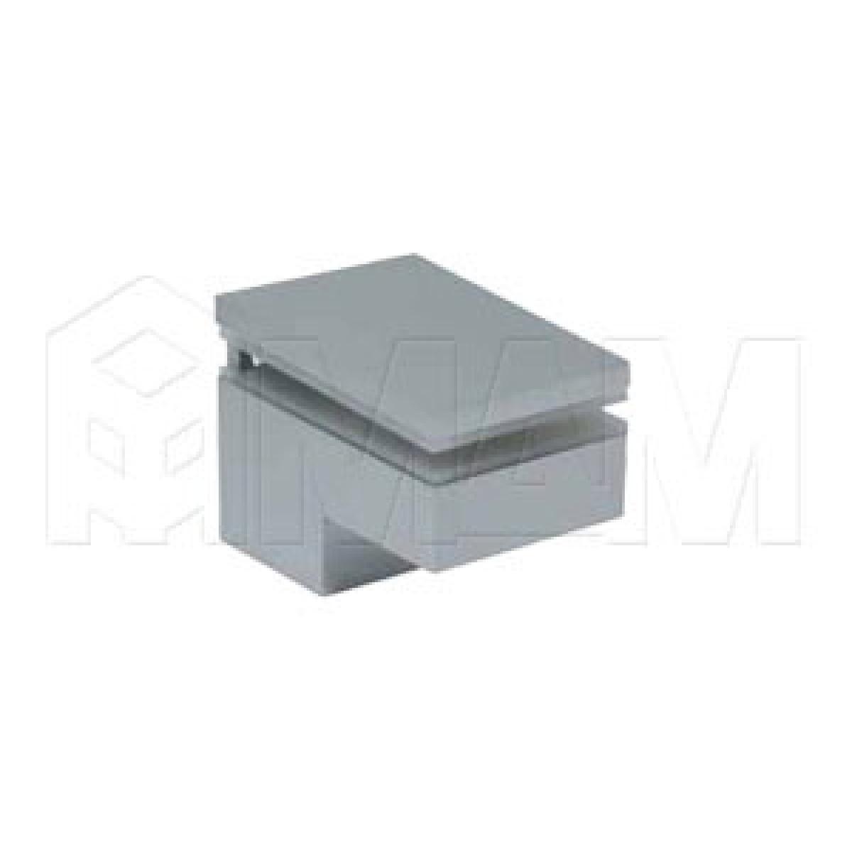 Менсолодержатель 40Х60 мм для деревянных и стеклянных полок 6 - 25 мм, хром матовый (2 шт.)