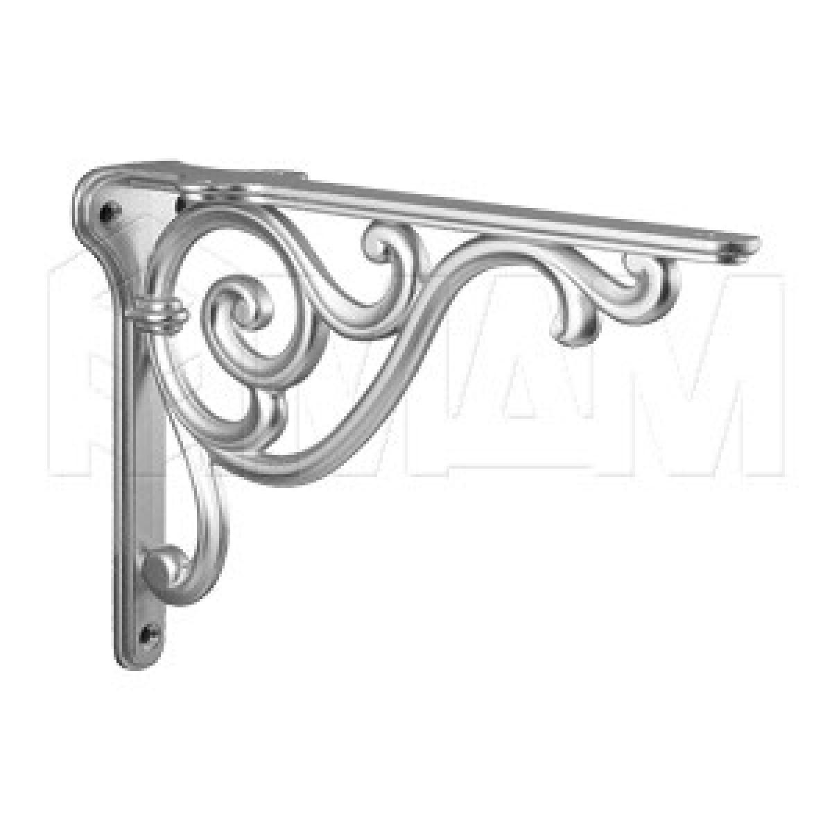 ROME Менсолодержатель для деревянных полок L-200 мм, серебро Ноттингем