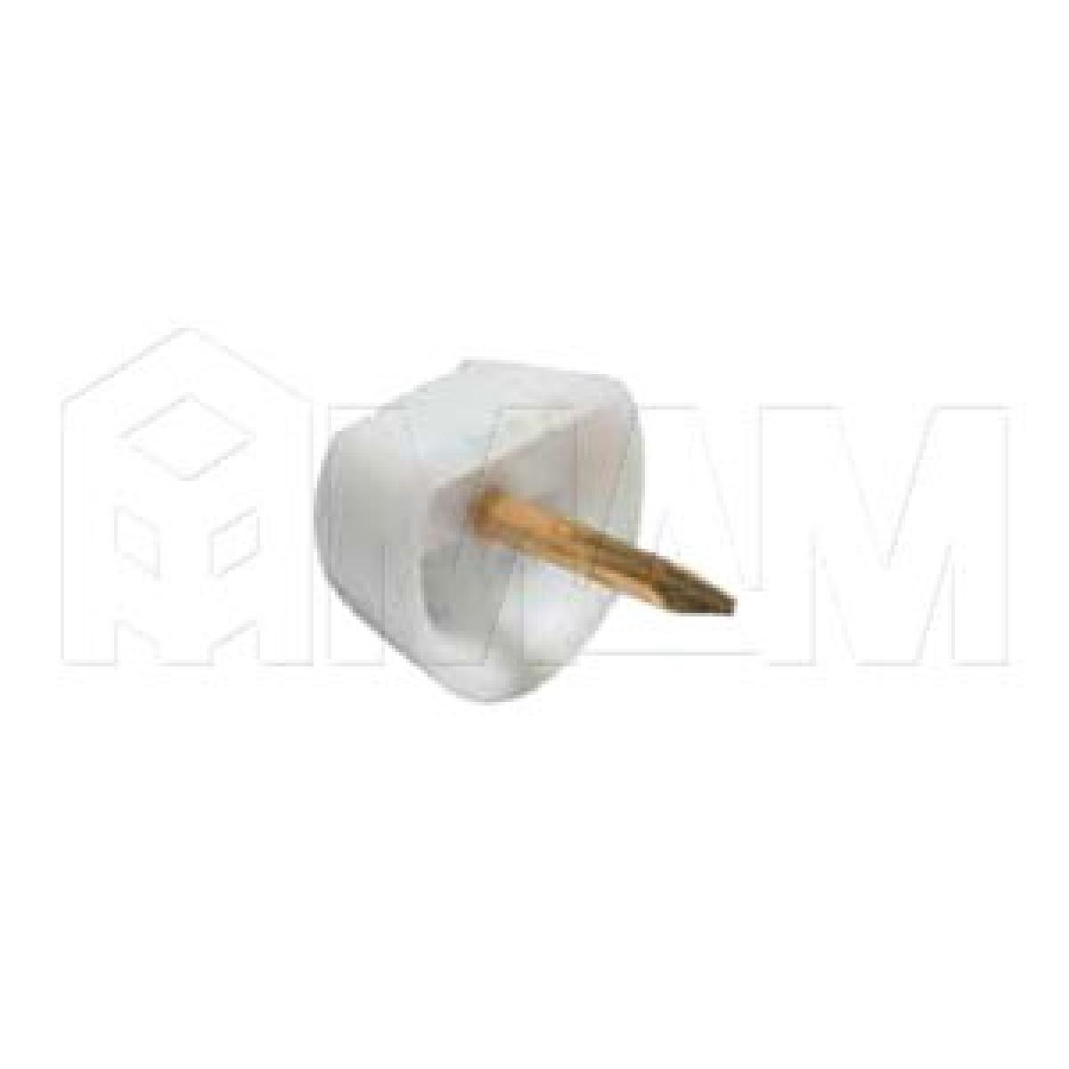 Полкодержатель с гвоздем для деревянных полок, белый
