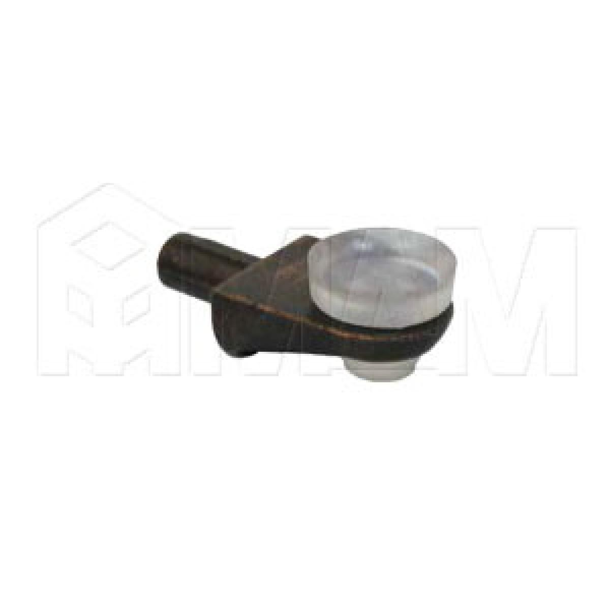 Полкодержатель с присоской для стеклянных полок, бронза/прозрачный