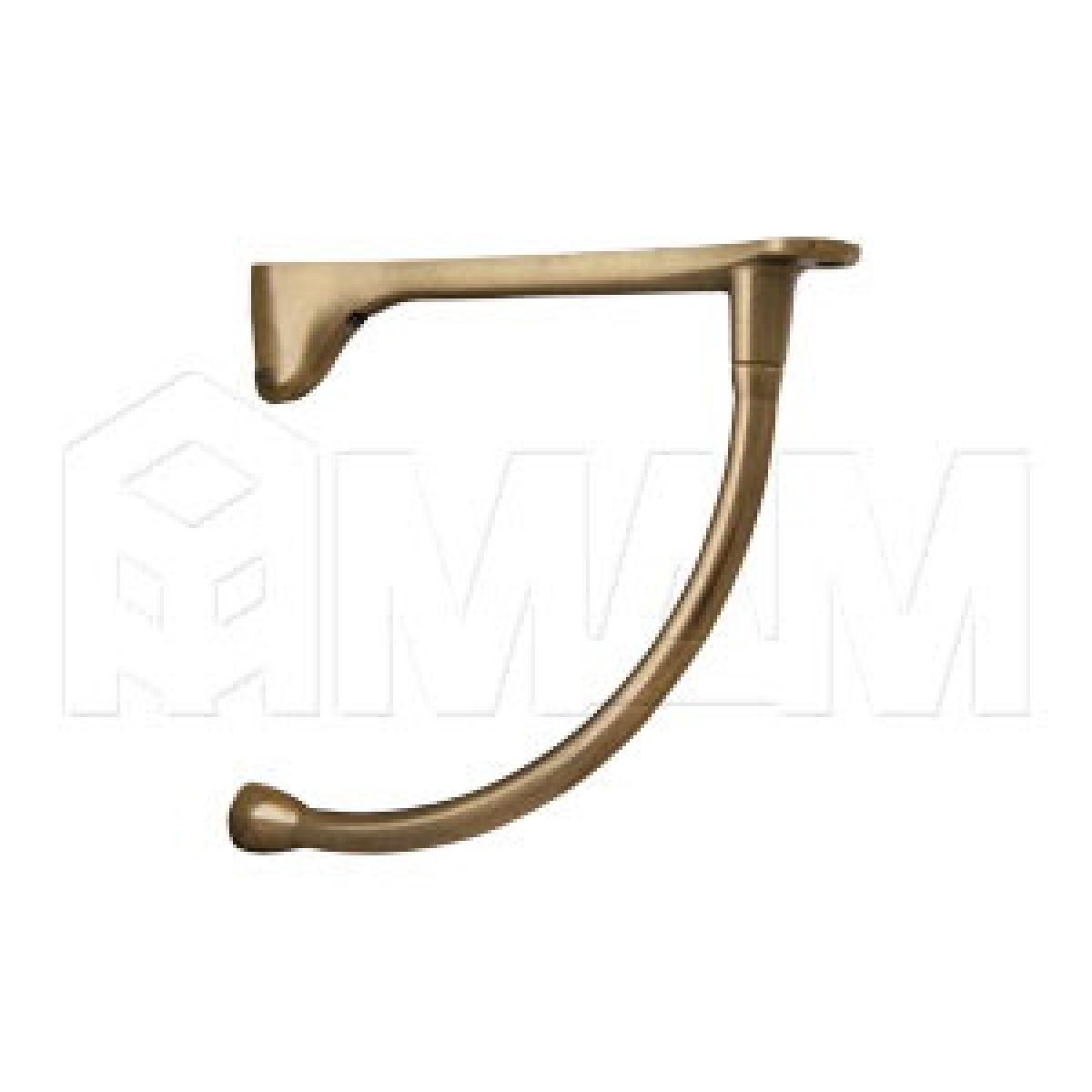 Менсолодержатель для деревянных полок L-230 мм, бронза патинированная (2 шт.)