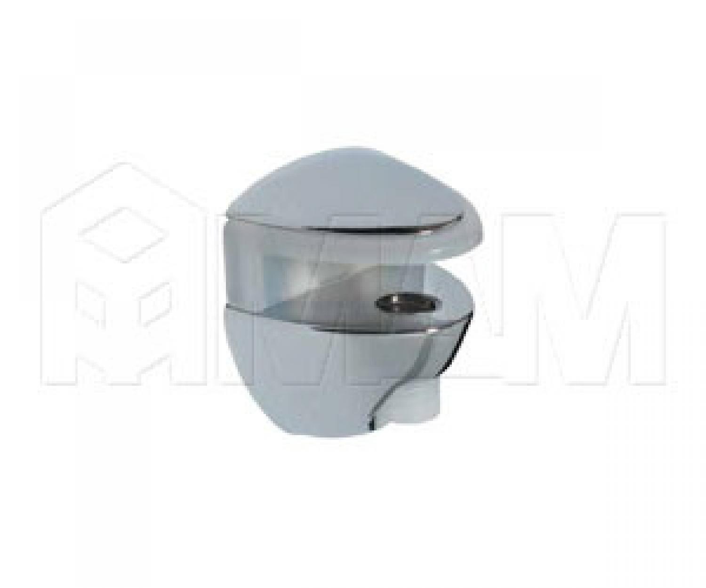 COBRONE Полкодержатель для стеклянных полок толщиной 8-10 мм, хром