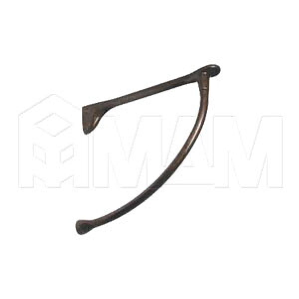 Менсолодержатель для деревянных полок L-240 мм, бронза патинированная (2 шт.)