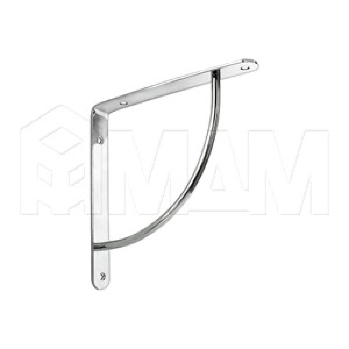 Менсолодержатель для деревянных полок L-220 мм, хром