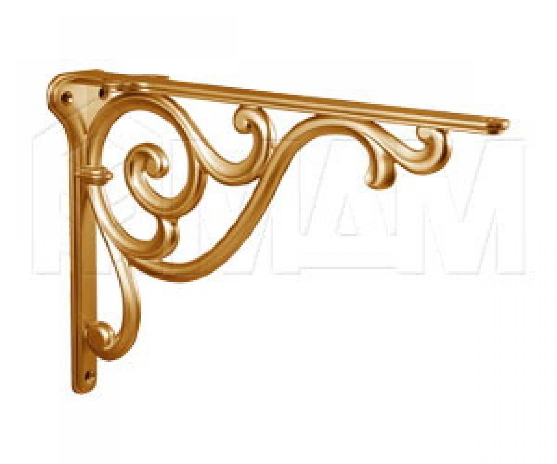 ROME Менсолодержатель для деревянных полок L-200 мм, золото матовое Милан