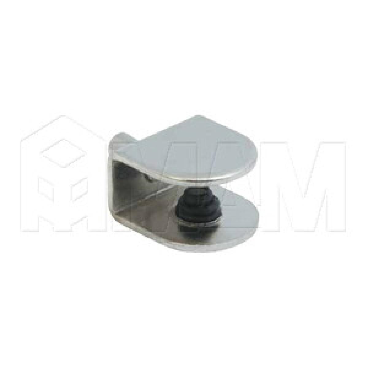 Полкодержатель для стеклянных полок толщиной 5-8 мм, со штоком, никель