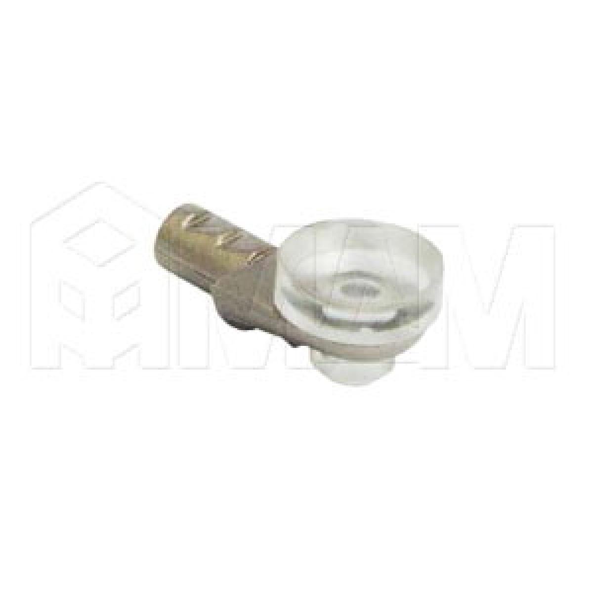 Полкодержатель с присоской для стеклянных полок, никель/прозрачный