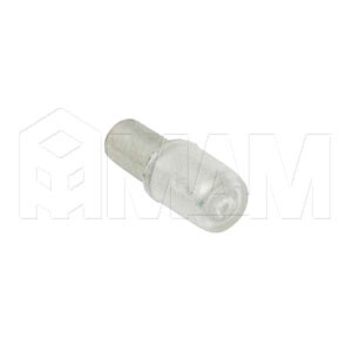 Полкодержатель в пластиковом чехольчике для стеклянных полок, хром