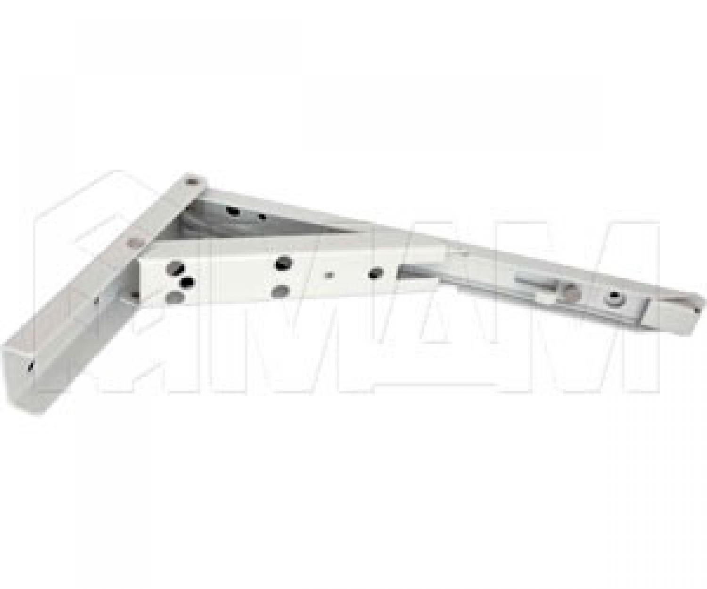 Кронштейн складной 136х240 мм для деревянных полок, белый (2 шт.)