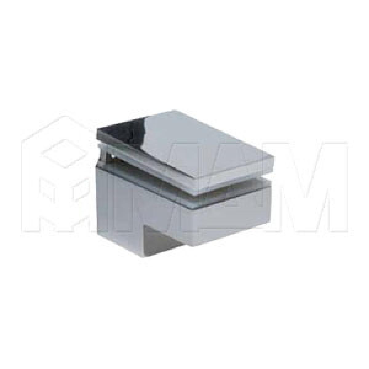 Менсолодержатель 40Х60 мм для деревянных и стеклянных полок 6 -25 мм, хром (2 шт.)