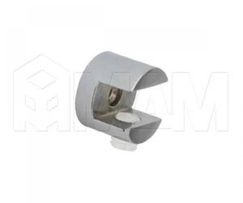 Полкодержатель для стеклянных полок толщиной 6-8 мм, хром