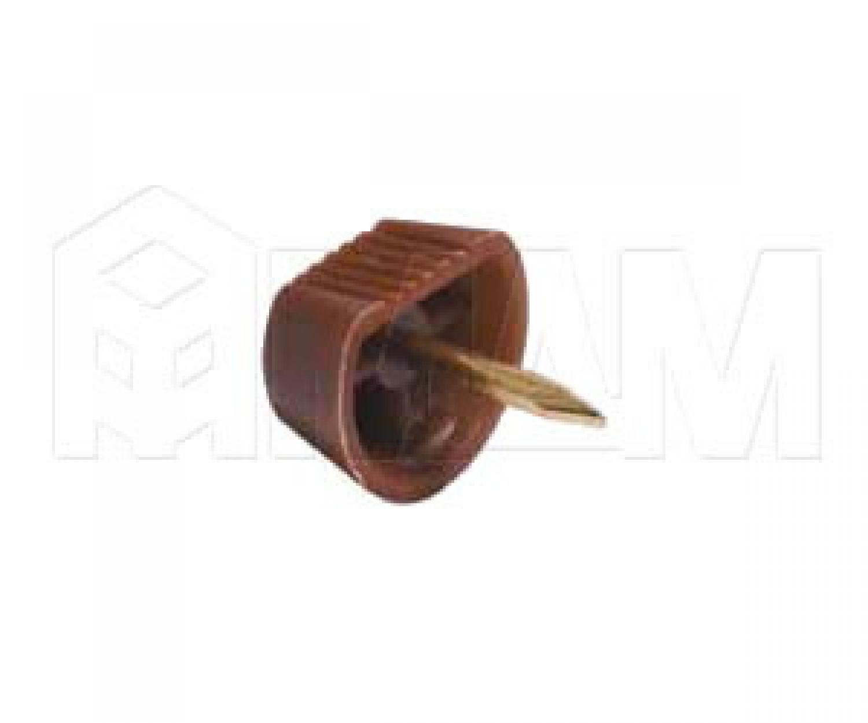 Полкодержатель с гвоздем для деревянных полок, коричневый