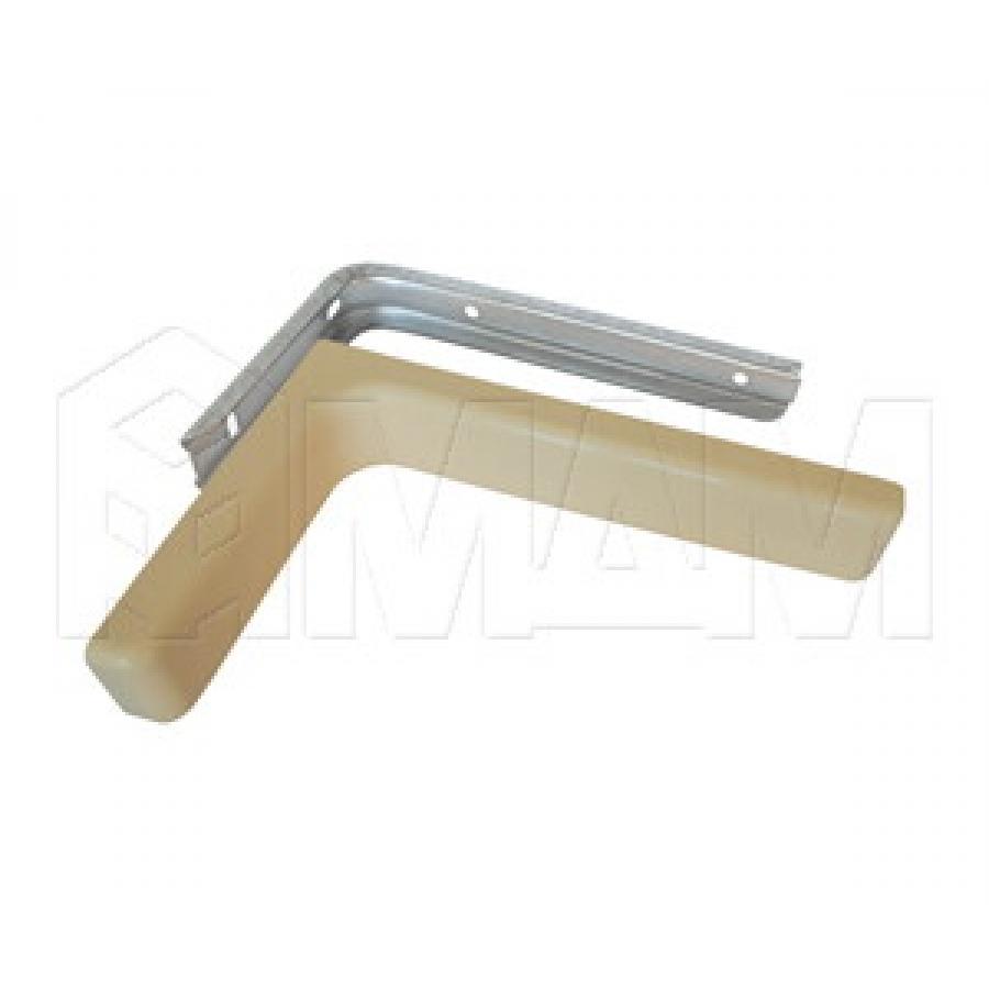 CORNER Менсолодержатель для деревянных полок с декоративной накладкой L-120 мм, светло-бежевый (2 шт.)