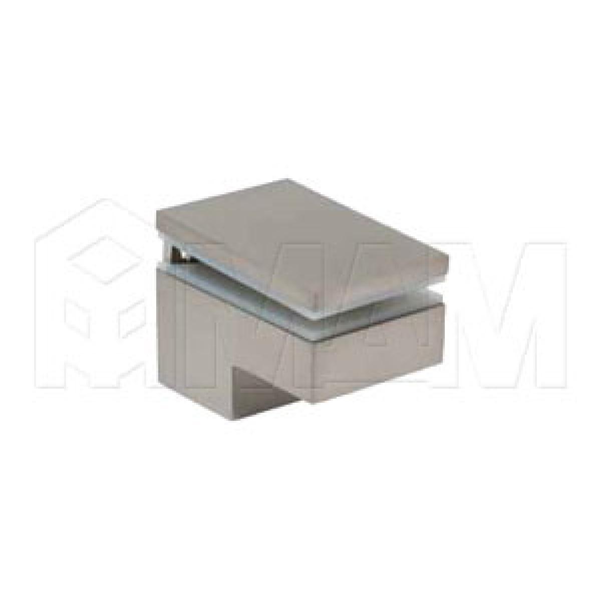 Менсолодержатель 40Х60 мм для деревянных и стеклянных полок 6 -25 мм, никель (2 шт.)