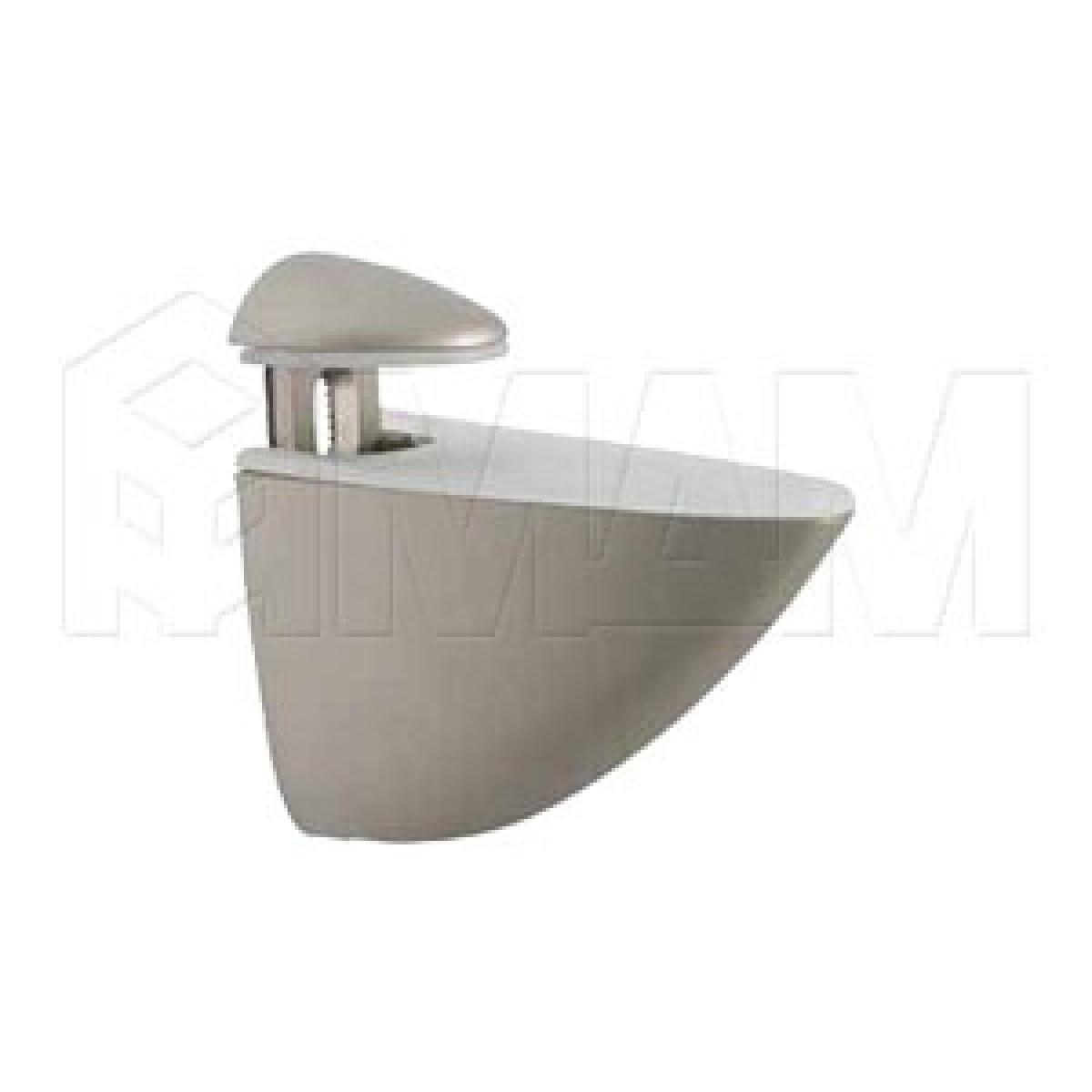 ПЕЛИКАН Менсолодержатель для деревянных и стеклянных полок 4 - 40 мм, никель матовый