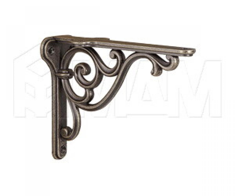 ROME Менсолодержатель для деревянных полок L-150 мм, бронза состаренная