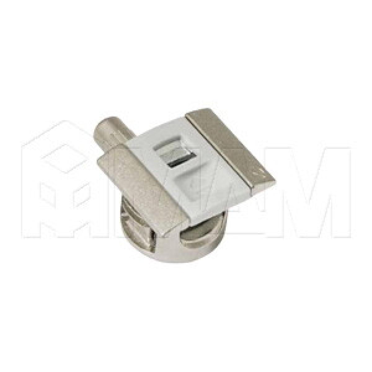 UNICO Полкодержатель для деревянных полок с фиксацией, со штоком без резьбы, светло-серый