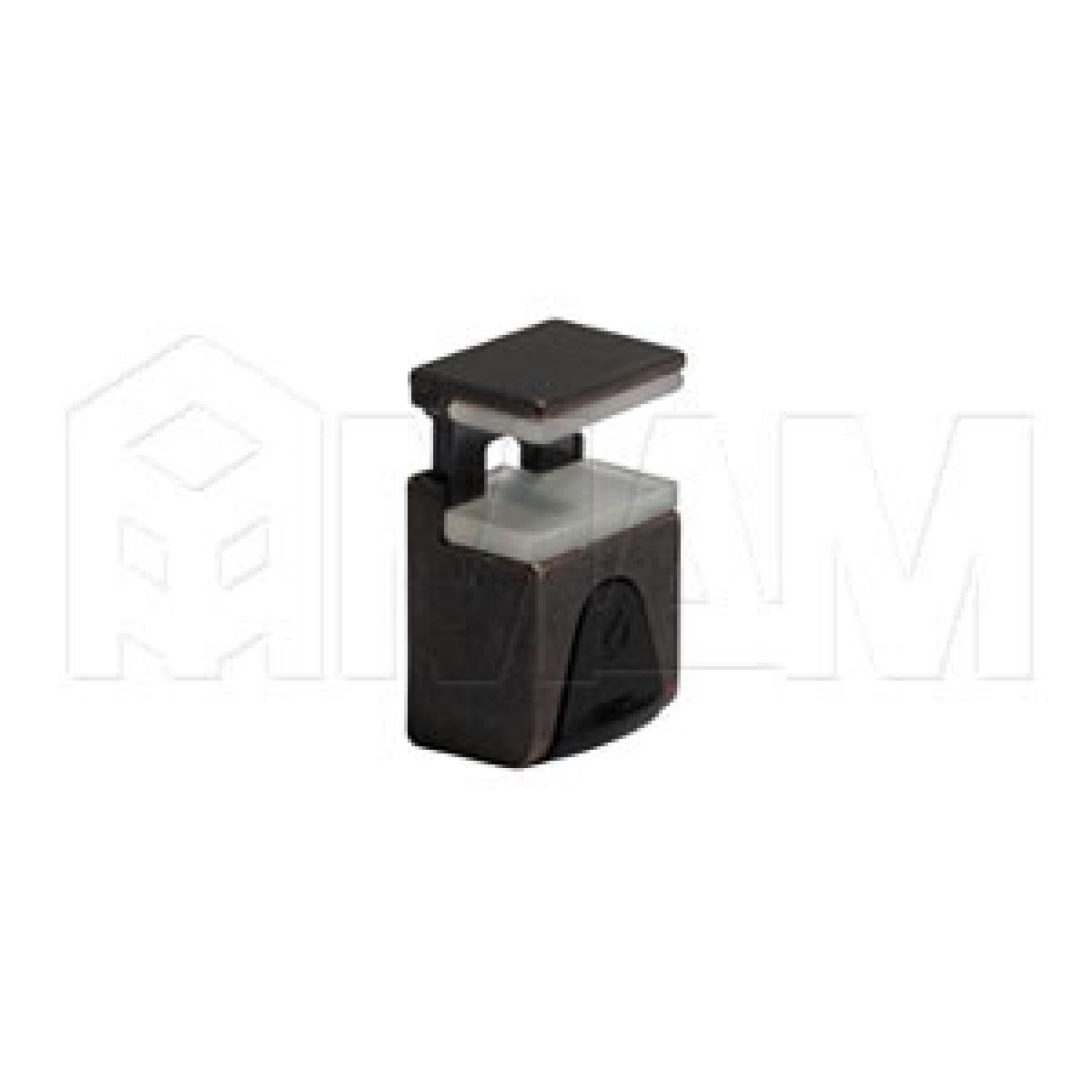 KUBIC Полкодержатель для стеклянных полок толщиной 4-9 мм, под саморез, бронза